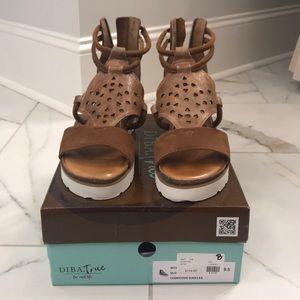 Never worn platform sandals